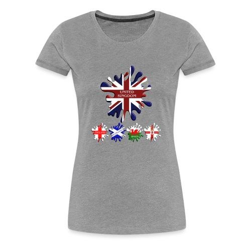 United Kingdom Flags - Women's Premium T-Shirt