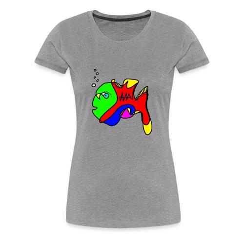 Tusche Fisch - Frauen Premium T-Shirt