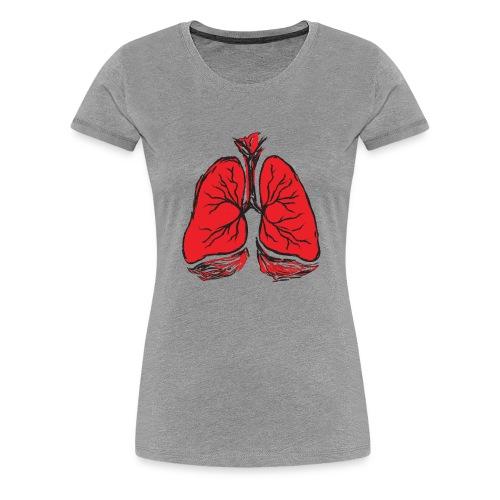 Pulmones - Camiseta premium mujer