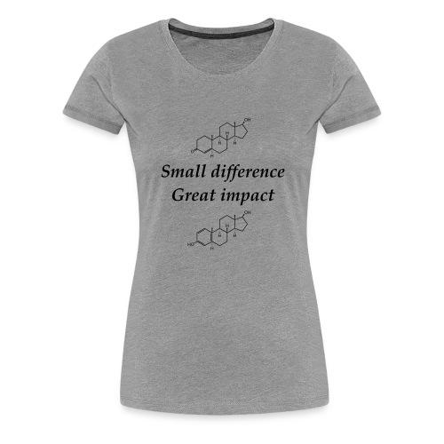 Testosterone vs Estrogen sort tekst - Dame premium T-shirt