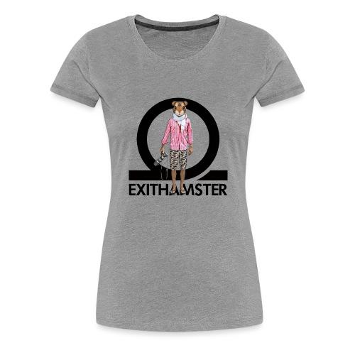 EXITHAMSTER LOGO WHITE BG - Women's Premium T-Shirt