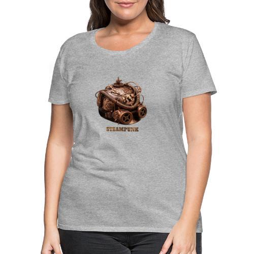 Steampunk Helm Retro Futurismus Gotik - Frauen Premium T-Shirt