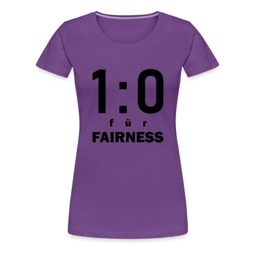 FAIRNESS in Führung - Frauen Premium T-Shirt