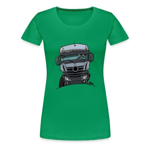0807 M Truck grijs - Vrouwen Premium T-shirt