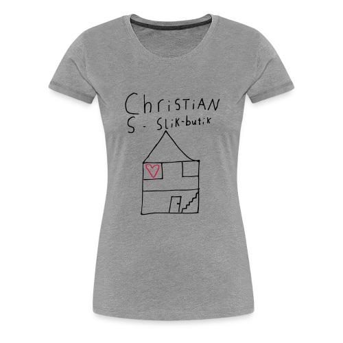 CHRISTIANS SLIKBUTIK ® - Dame premium T-shirt