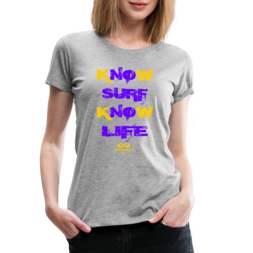 Surf Life Violet - Women's Premium T-Shirt