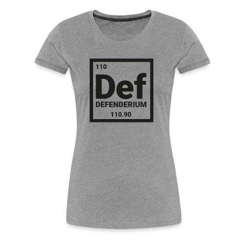 DEFENDERIUM BLACK - Vrouwen Premium T-shirt
