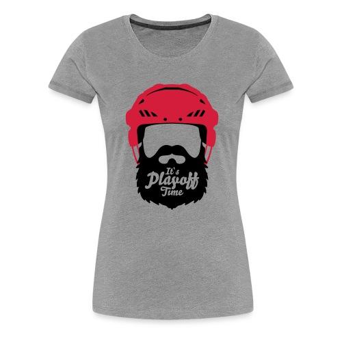 Eishockey Playoff Bart - Hockey Beard Helmet 1 - Frauen Premium T-Shirt