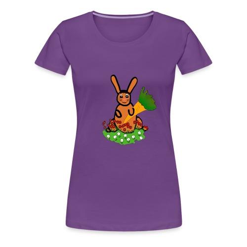 Rabbit with carrot - Women's Premium T-Shirt