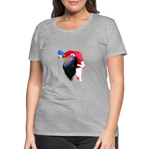 hair drying - Women's Premium T-Shirt