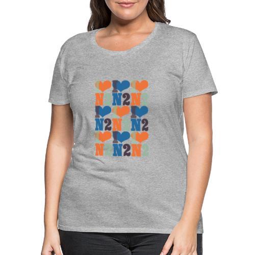 East Finchley I Love N2 pattern - Women's Premium T-Shirt
