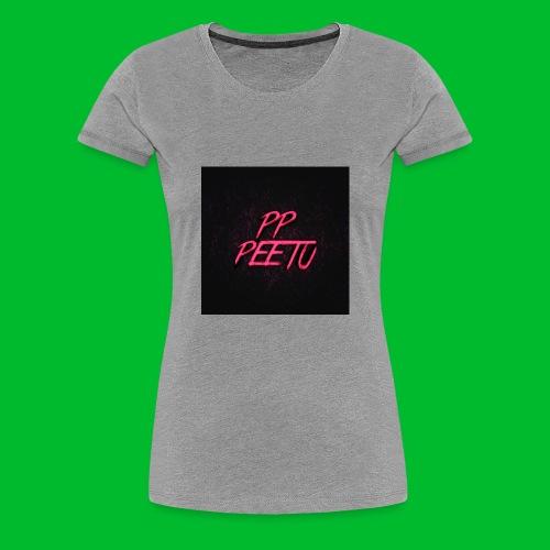 Ppppeetu logo - Naisten premium t-paita