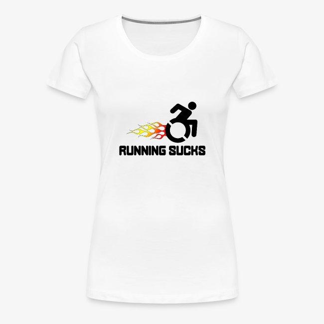 Rolstoel gebruikers vinden rennen niet leuk
