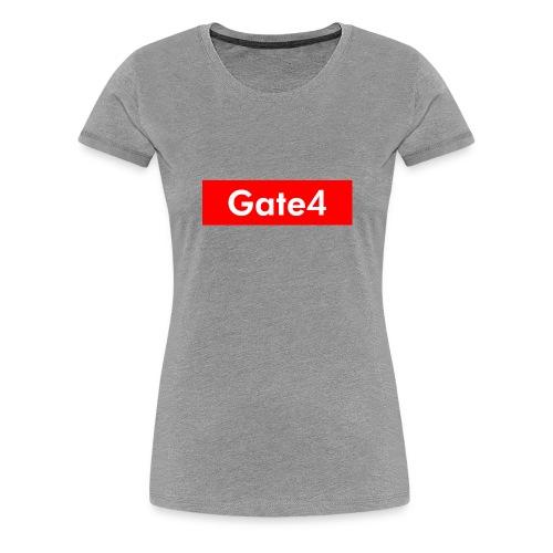 Gate 4 Logo Röda - Premium-T-shirt dam