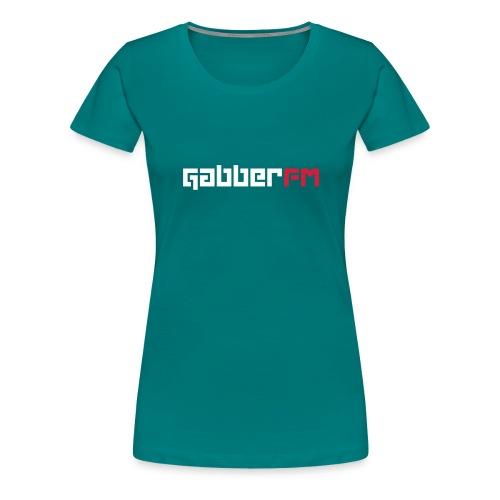 Gabber FM Letters - Women's Premium T-Shirt