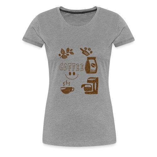 Coffee - Naisten premium t-paita