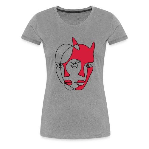 Two faces - Premium-T-shirt dam