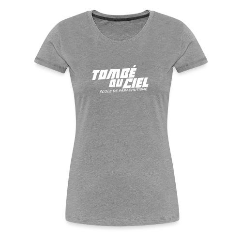 Logo TDC WHITE 2018 - T-shirt Premium Femme