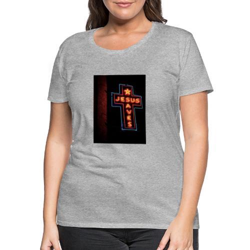Jesus Saves - Women's Premium T-Shirt