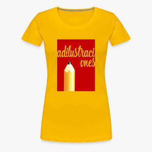 Ad ilustraciones Rojo - Camiseta premium mujer