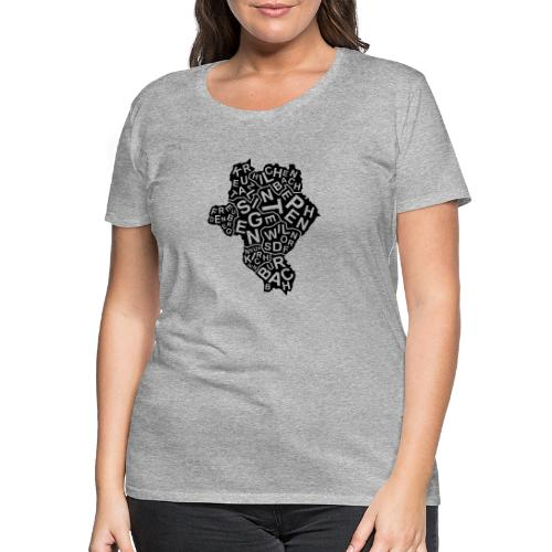 Siegerlandkarte - Frauen Premium T-Shirt