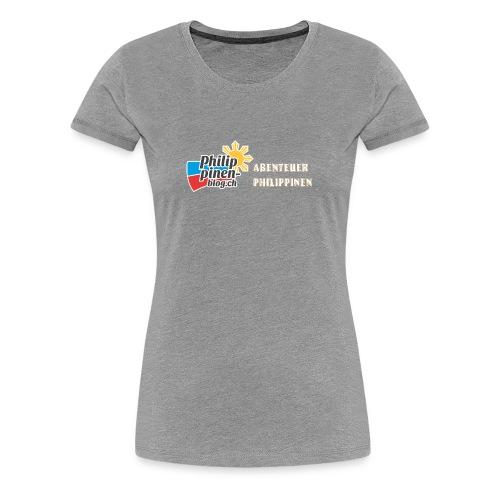 Philippinen-Blog Logo deutsch orange/weiss - Frauen Premium T-Shirt
