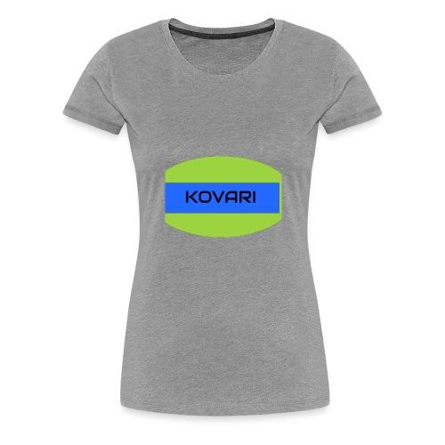 Kovari Logo - Naisten premium t-paita