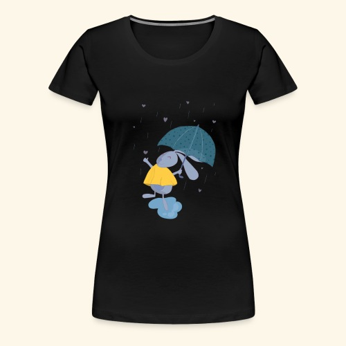 happy in the rain - Women's Premium T-Shirt