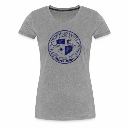 Blason école interprètes LSF - T-shirt Premium Femme