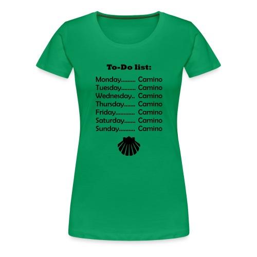 To-do list: Camino - Dame premium T-shirt