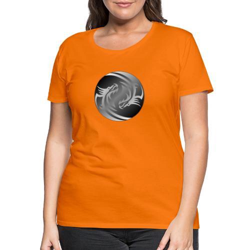 Yin Yang Dragon - Women's Premium T-Shirt