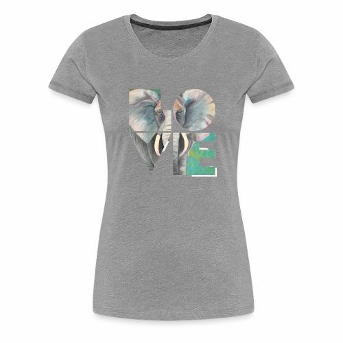 Elefant der Liebe - Frauen Premium T-Shirt