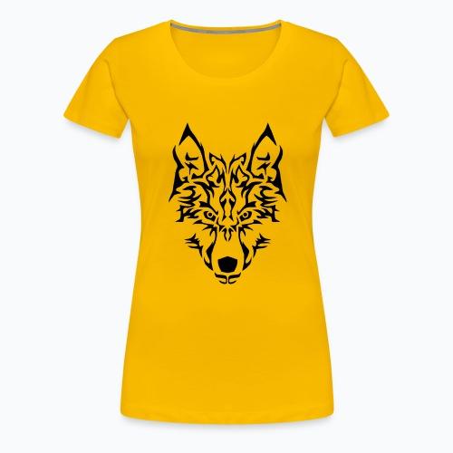 Tribal Wolf - T-shirt Premium Femme