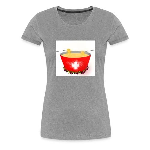 Einzigartiges Schweizer Fondue T-Shirt - Frauen Premium T-Shirt