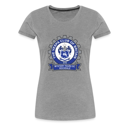 Mystery Tours Scooter Club Cog Badge - Women's Premium T-Shirt