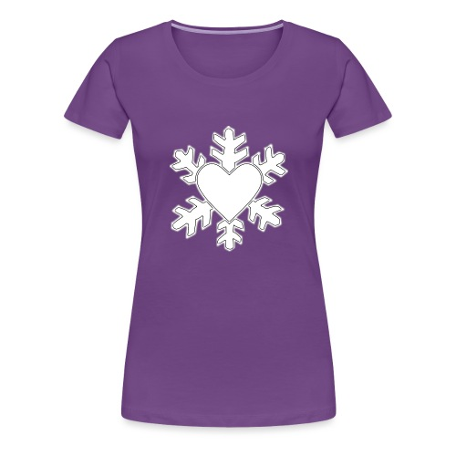 Flocon coeur 3D - T-shirt Premium Femme
