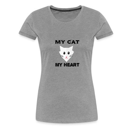 my cat my heart - T-shirt Premium Femme