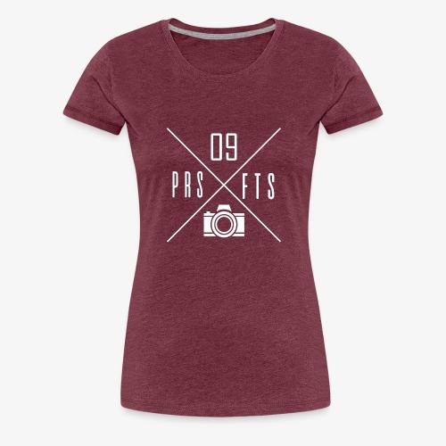 Cross weiss - Frauen Premium T-Shirt