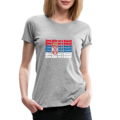 Hopp Serbien - Frauen Premium T-Shirt