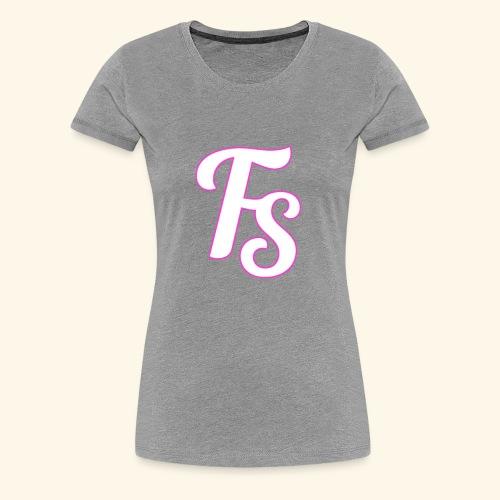 fs logo met een roze out line - Vrouwen Premium T-shirt