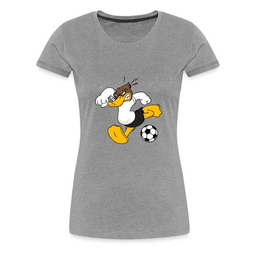Fussball Ente Entchen ball Ente Tor - Frauen Premium T-Shirt