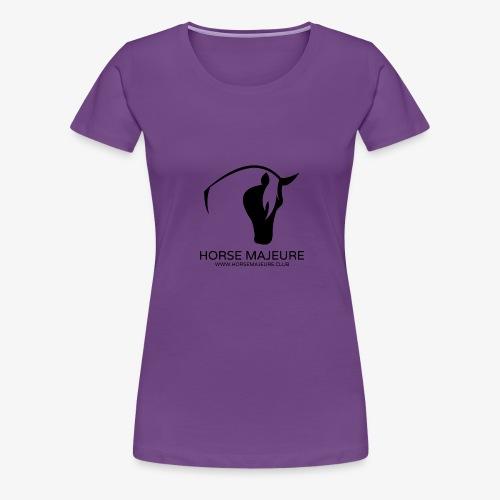 Horse Majeure Logo / Musta - Naisten premium t-paita