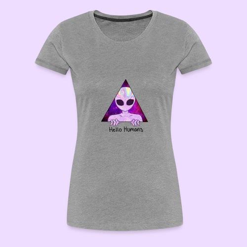 Alien/Hello Humans - Camiseta premium mujer