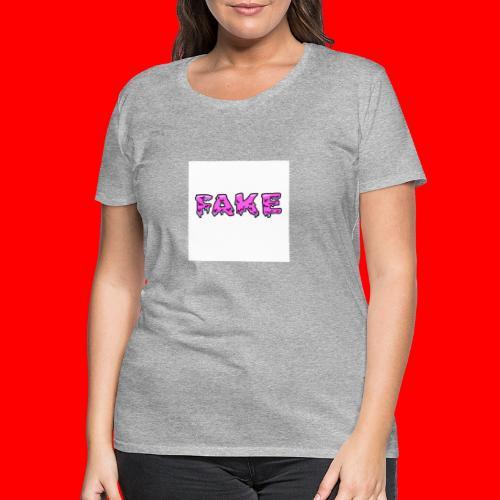grime.art FAKE - Vrouwen Premium T-shirt
