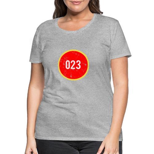 023 logo 2 washed regio Haarlem - Vrouwen Premium T-shirt