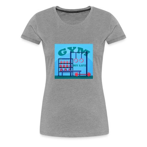 GYM - Naisten premium t-paita