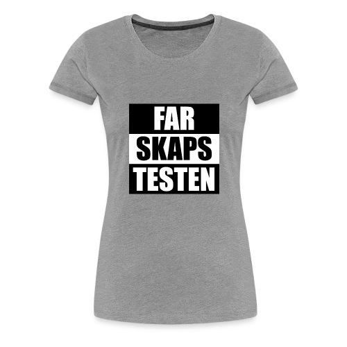 Farskapstesten - Premium T-skjorte for kvinner