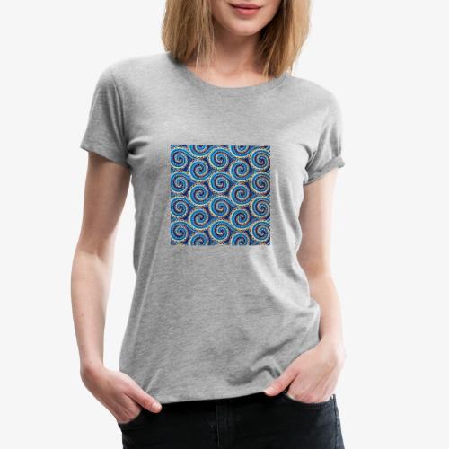 Spirales au motif bleu - T-shirt Premium Femme