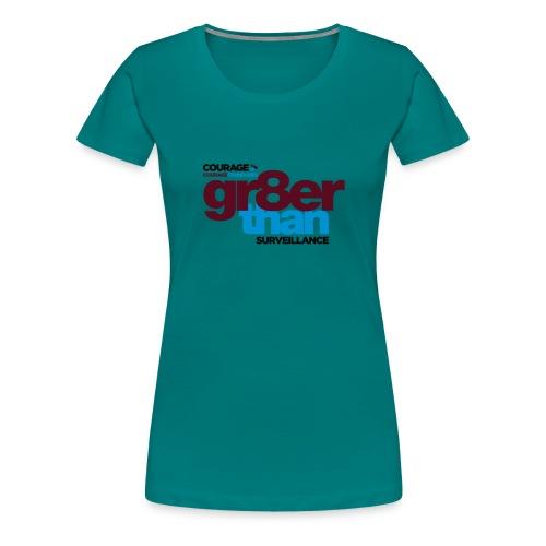 courage-gr8erthan-surveil - Women's Premium T-Shirt