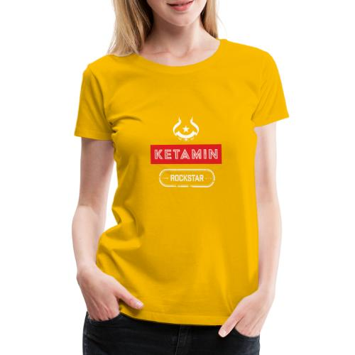 KETAMIN Rock Star - Weiß/Rot - Modern - Women's Premium T-Shirt